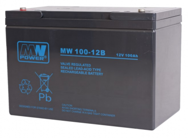 Akumulator MW Power MW 100-12B 100Ah, 12V, 306x168x210 mm - AGM-bezobsługowy